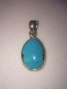 Turquoise Cabochon Pendant set in 925 Sterling by WookNook13, $30.00