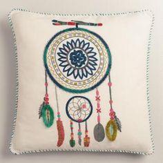 Dreamcatcher Cotton Throw Pillow