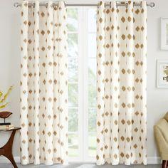 Found it at Joss & Main - Diamond Grommet Curtain Panel