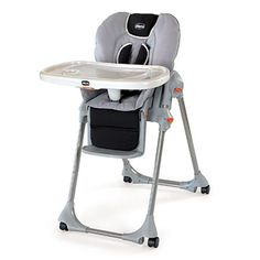 The Polly Highchair's seven height positions, three reclining positions, and one-hand tray removal make the Polly the most convenient highchair to maneuver. Its highlighted and clearly visible buttons won't leave you searching for how to adjust the highchair to make your child most comfortable. Polly Highchair - Romantic