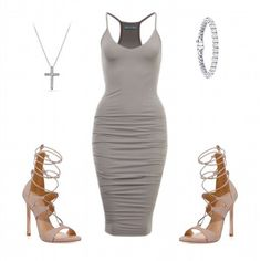 Fall look ideas by Marsia. Love the nude and grey combo  Dress will be available very soon!  @shopmarsia  #fallcollection #shopmarsia #fashion #style #fashionista #ootd #ootn #beautiful #lookbook #amazing #igfashion #obsessed #love #dress  @hudabeauty