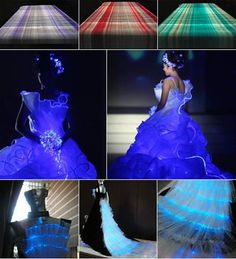 Be Different with LED Clothes and Fiber Optic Fashion 2012
