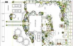 1000 images about sketches gardens on pinterest garden for Plan jardin anglais