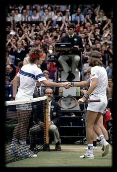 The 1980 Wimbledon final : Bjorn Borg vs John McEnroe (1-6, 7-5, 6-3, 6-7 [16-18], 8-6). One of the greatest matches of all time...