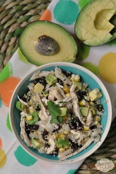 This sounds like the perfect lunch idea! Chicken, Avocado and Quinoa Salad