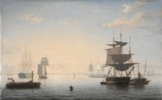 ART OF THE DAY: Harbor of Boston, with the City in the Distance, c. 1846-1847. Fitz Henry Lane (American, 1804-1865). See it at the CMA!