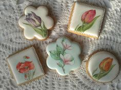 handpainted flower cookies