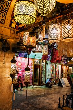 The Grand Bazaar in Istanbul, Turkey.  Bazaar Ambience by John & Tina Reid