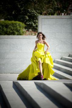 neon ball dress