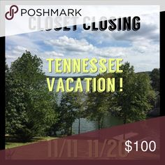 Closet Closing For Vacation I will be away from 11/11 through 11/19. Be sure to make your purchases before 11/10 which will be my last day to ship. 🤗🤗🤗💜💜💜💜 Tory Burch Accessories