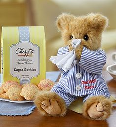 "Adorable ""Get Well"" gift. Bearington Get Well Bear with Cookies Get Well Wishes, Get Well Soon Gifts, Calin Gif, Teddy Hermann, Get Well Flowers, Teddy Bear Pictures, Boyds Bears, Bear Wallpaper, Love Bear"