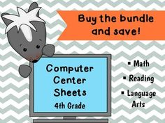 This bundle contains all the sheets from my 4th grade math and language arts Computer Center Sheets, as well the sheets from my 3rd-4th grade reading skills set at a discounted price.