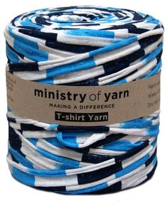 Ministry of Yarn blue and white stripe t-shirt yarn Australia