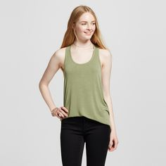 Women's Racerback Tank Top - Mossimo Supply Co. Olive (Green) XL