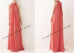 Watermelon chiffon dress maxi dress long dress plus size dress sundress summer dresses Evening dress tunic dress party dress chiffon skirt