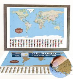 The national parks scratch off travel map by mappinners scratch celebrate earth day weekend with the world scratch off travel map use checkout code npweek20 sciox Image collections