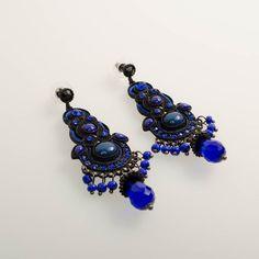 Blue Muse Earrings www.claspandhook.com
