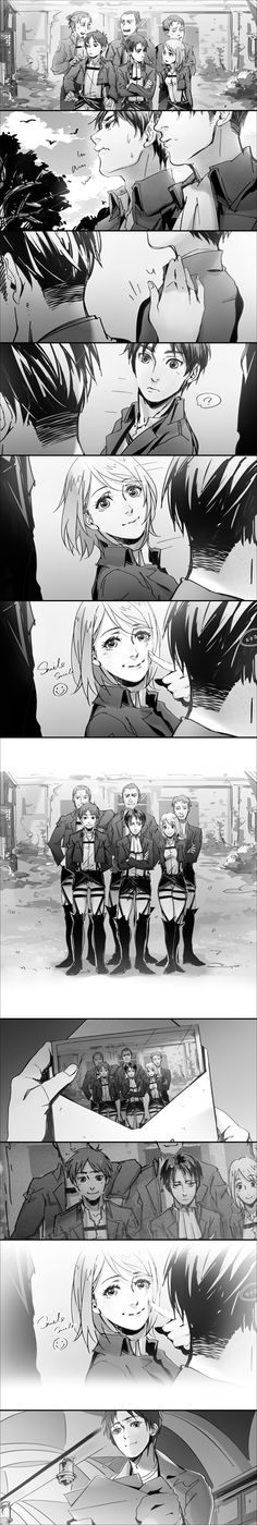Shingeki no Kyojin - Eld, Gunther, Auruo, Levi, Eren and Petra <<<< why? ;_;