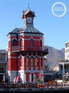 V Waterfront Clock tower in Cape Town, South Africa only on hour from Franschhoek home of La Cle des Montagnes four luxurious villas on a working wine farm Cool Places To Visit, Places To Go, V&a Waterfront, Cape Town South Africa, Safari, Most Beautiful Cities, Africa Travel, Around The Worlds, City
