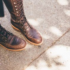 The purpose of our Legacy Collection is to honor and build upon our 111 year history with progressive designs inspired by our boots of yesteryear and the women who wore them. #redwingwomen #redwingheritage #3386 #Gloria #legacy #fw16
