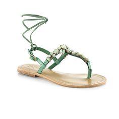 Venus Green Sandals