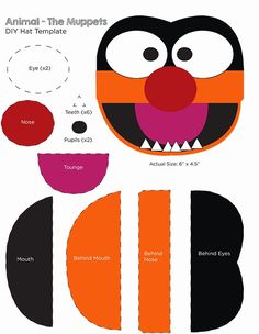 Template for Animal Muppets costume.  One Project at a Time http://oneprojectatatime.blogspot.com/2014/11/make-animal-from-muppets-costume.html