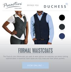 Need a sophisticated and smart look? Choose and waistcoats which are fully lined and have jetted pockets! Corporate Outfits, Pockets, Clothing, How To Wear, Style, Outfit, Swag, Stylus, Clothes
