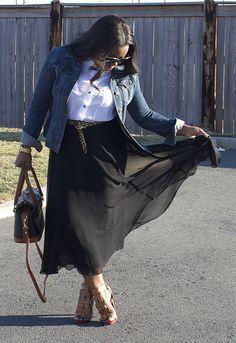flowy midi skirt!