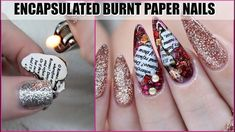 How to succeed in your manicure? - My Nails Dark Pink Nails, Silver Nails, Rhinestone Nails, Acrylic Nail Designs, Nail Art Designs, Burnt Paper, Encapsulated Nails, Nails Design With Rhinestones, Nail Room