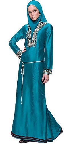 Blue hijab and jilbab