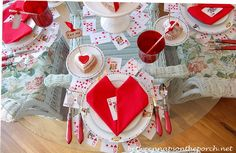 Between Naps on the Porch | Whimsical Valentine�s Day Tablescape, Alice in Wonderland Style | http://betweennapsontheporch.net