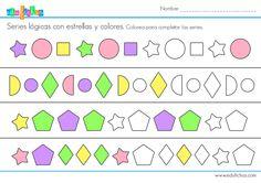 serie logica formas colorear #ejercicios #logica #actividades