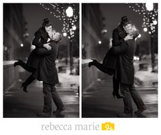 Cozy Winter Engagement Session #Love #Couple Photo by Rebecca Marie Photography.