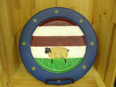 Hand Painted Recycled China Decorative Plate by humblehrtdesigns, $10.00