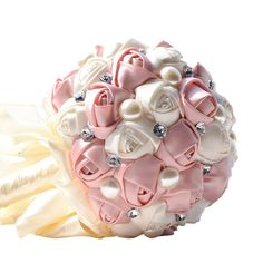 Favebridal Real Touch Flower Silk Rose Bridal Wedding Bouquet WF005PK -- Details can be found by clicking on the image.