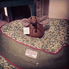 Look who we caught sleeping in our #libertyprint dog bed!
