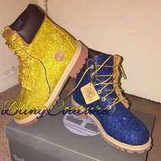 Glitter Timberlands Follow me on Instagram @House.Of.Bling