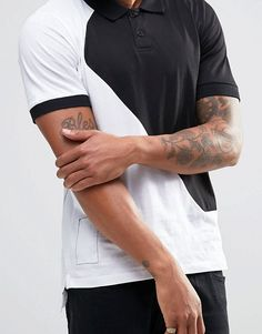 Shop Religion Cut & Sew Polo Shirt at ASOS. Polo T Shirts, Sport Wear, Lp, Fashion Online, Latest Trends, Religion, Asos, Sewing, Sports
