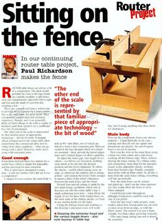 #3149 DIY Router Table Fence - Router