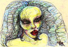 Oil Pastel Paintings, Original Paintings, Original Art, Abstract Portrait, Abstract Art, Abstract Expressionism, Oil Pastel Colours, Crazy Girls, Woman Painting
