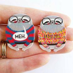 Sloth pins