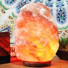Salt Rock Lamp Walmart Beauteous Chelsea Covington Order One For Your Desk At Work Too  Energy Review