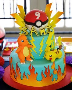 I can't even handle this Pokemon Birthday cake by @fancycakesbyleslie. The party guests were equally in awe of it! Photo by @deblindsey by bellwetherevent. videogameparty #birthdayfun #peeps #pokeball #pokemonparty #kidsparty #powerup #videogames #tabledecor #primarycolors #kidspartyideas #eventplanner #gameon #kidstagram #birthdayboy #pokemon #kidspartydecor #pokemoncake #videogame #birthdaycake #partyplanner #birthdayparty #kidsparties #tablescape #eventprofs #meetingprofs #eventplanner…