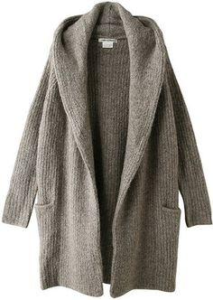 Cozy knit coat / ShopStyle: マリリンムーン ウール混フード付きニットコート