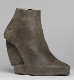 I love this bootie, I don't know why, I just do!!!!!   BURNISHED SUEDE WEDGE BOOTIE