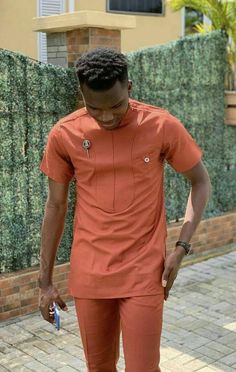African clothing for men/African outfit for men/African men's shirt/ shirt sleeves shirt with pants – Fashion African Shirts For Men, African Attire For Men, African Clothing For Men, African Dresses For Women, African Print Dresses, African Wear, African Prints, African Style, African Fabric