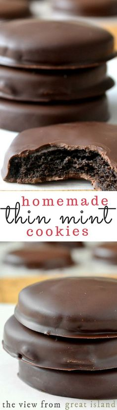 Homemade Thin Mints ~ this is the recipe you've been waiting for ~ the perfect copy cat Girl Scout Thin Mint Cookie Ingredients For the cookies: 1 cup (8 oz, or 2 sticks) unsalted butter, at room temperature 1 cup unsweetened cocoa powder (I used Dutched dark cocoa powder which worked well) 1 cup powdered sugar 1 teaspoon vanilla ¾ teaspoon salt 1 ½ cups all purpose flour (fluff the flour before scooping and leveling the cup, too much flour will result in a dry dough)