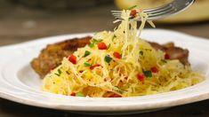 Courge spaghetti avec poivrons