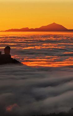 El Teide (volcán ahora inactivo) Isla de Tenerife. Islas Canarias.  España.