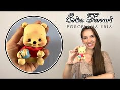 🐶 Erica Ferrari Porcelana Fría | Winnie the Pooh 2019 | Clase Gratis | DIY | Tutorial Fácil - YouTube Cute Polymer Clay, Cute Clay, Polymer Clay Dolls, Polymer Clay Projects, Art Doll Tutorial, Diy Tutorial, Pooh Bebe, Cold Porcelain Tutorial, Winnie The Pooh Cake